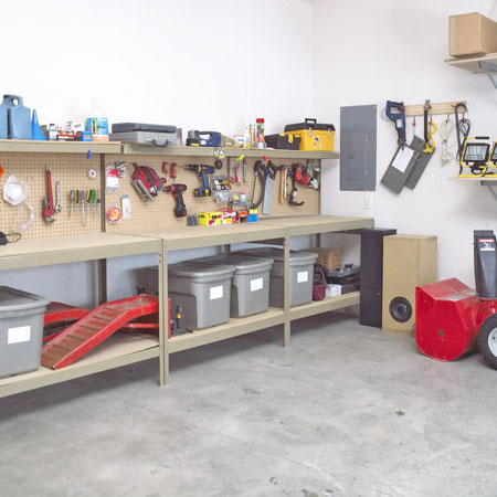 Garage storage ideas shelves and racks shelterness for Shelving and storage ideas