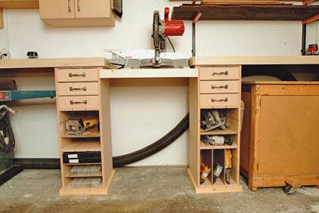идея для хранения в гараже 2: стеллажи и полки.