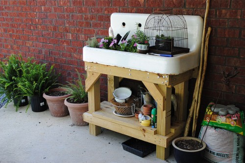 Garden Potting Station