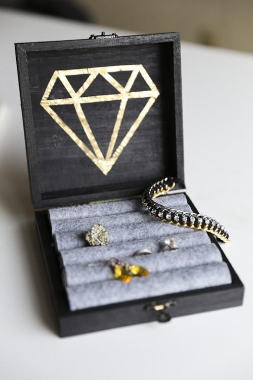 Diy Jewelry Box Part - 35: Gatsby Inspired DIY Jewelry Box