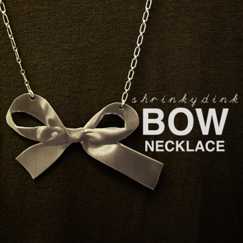Girlish DIY Shrinky Dink Bow Necklace