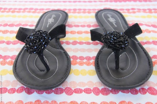 Glam DIY Flip Flops Refashion