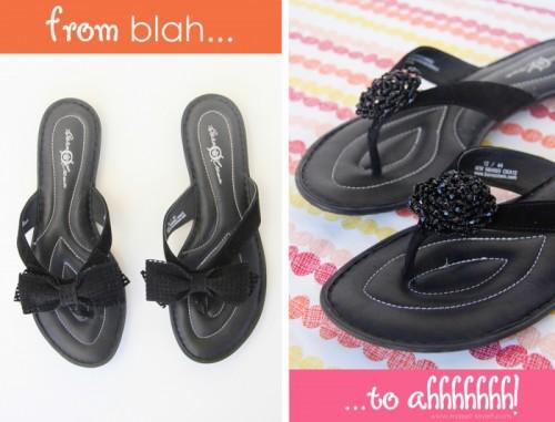 Glam Diy Flip Flops Refashion
