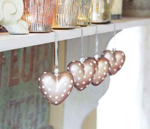 Glass Heart Tree Decorations