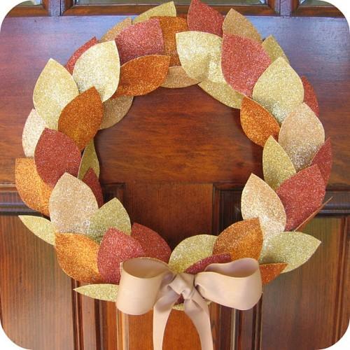 Glitter Thanksgiving Wreath