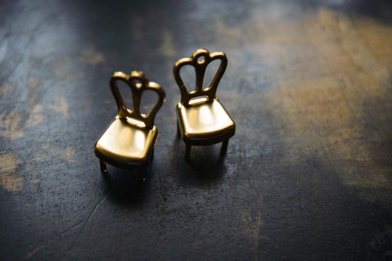 Gold Chair Place Card Holders