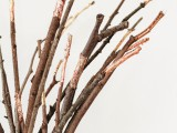 gold foil branches