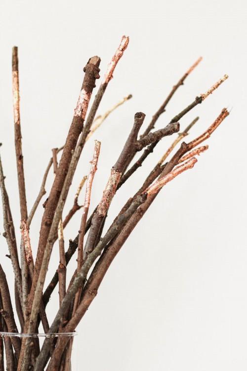 gold foil branches (via poppytalk)