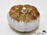 gold sequin pumpkins