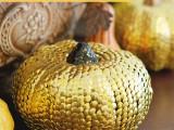 gold thumbtack pumpkins