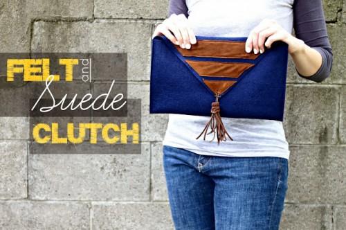 felt and suede clutch (via styleoholic)