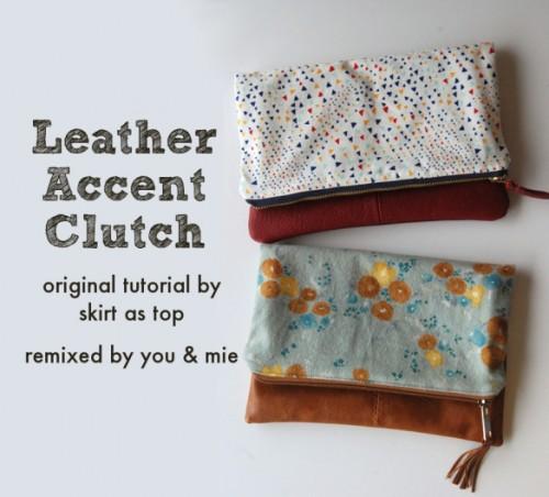original leather clutch (via shelterness)