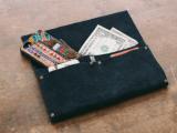 no sew leather clutch