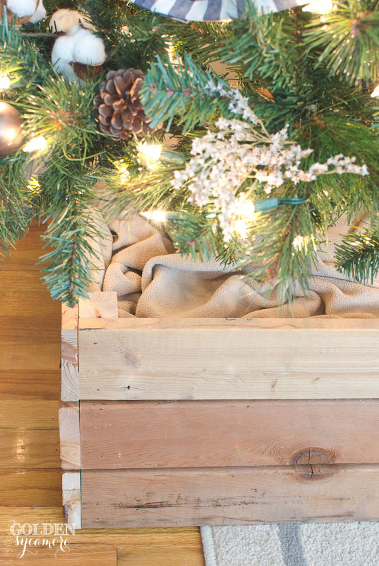 Rustic looking Christmas tree stand box