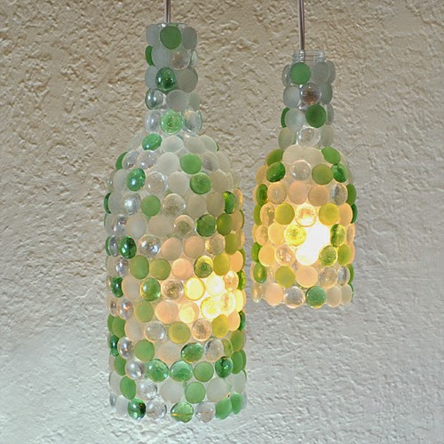 wine bottle pendant lamps (via ilovetocreateblog)