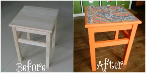 IKEA stool makeover (via theincredibleandsometimesedibleegg)