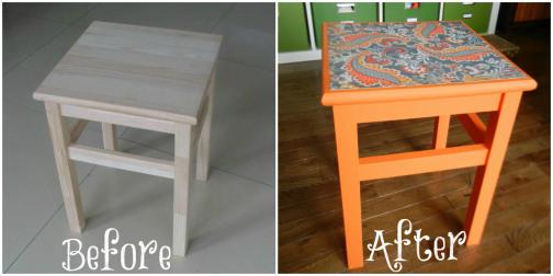 IKEA stool makeover
