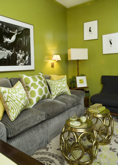 Living Room Design Green: 50 Cool Green Room Ideas