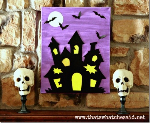 Halloween Canvas To Make With Your Kids