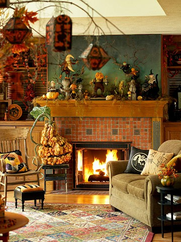 cool halloween living room decorating ideas shelterness