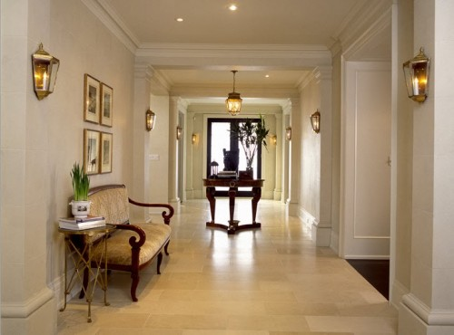 Spacious hallway in traditional style