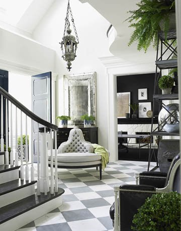 If there is enough sunlight you can put lots of greenery in a hallway
