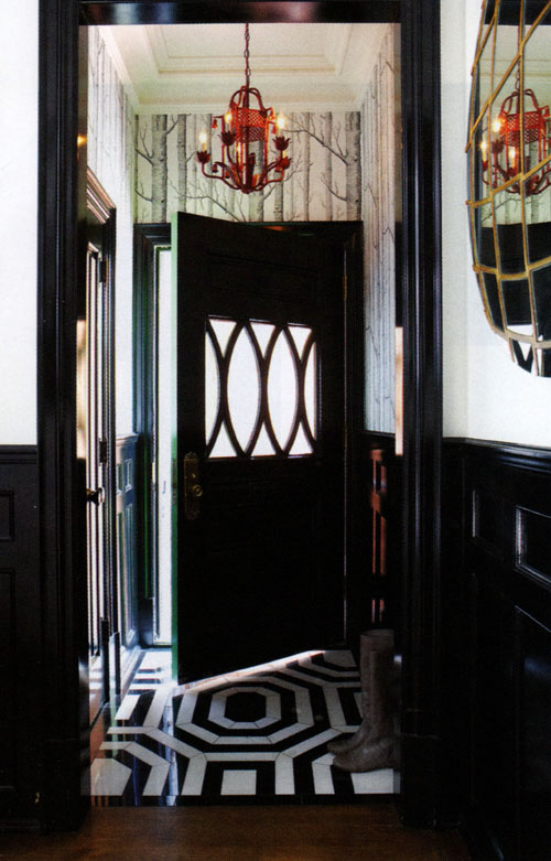 Black front doors are quite practical and stylish.