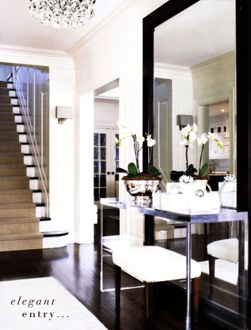 Orchids make any entryway more elegant.