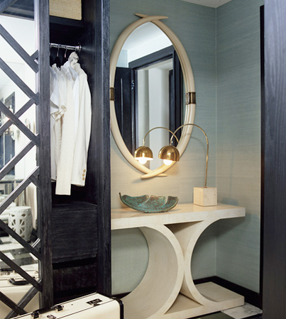 Using your hallway as an additional closet space is a necessary solution for small apartments.