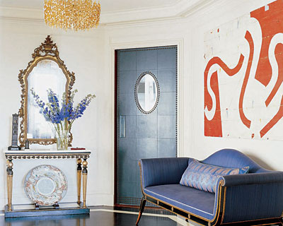 Deep blue is a great color choice for any interior.
