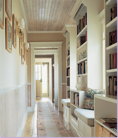 Your hallway could become your home library.