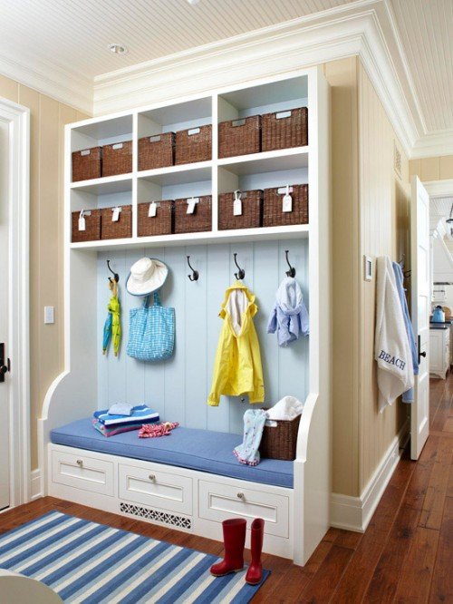 Foyer Closet Storage Ideas : Mudroom and hallway storage ideas shelterness