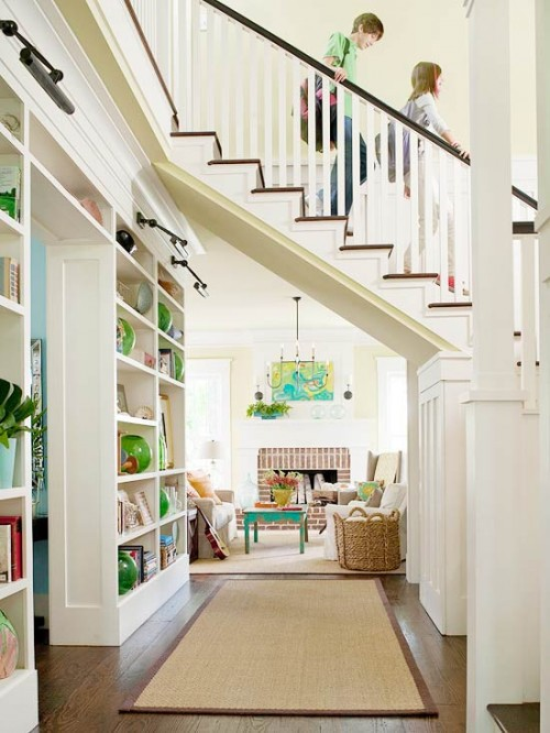 Hallway Storage Under Stairs