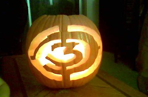 Halo 3 Pumpkin Light
