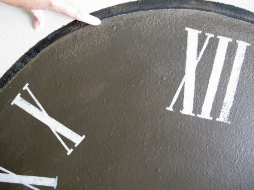 Hand Painted Antique Wall Clock