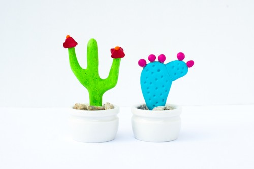 Handmade Cactus Jewelry Holders