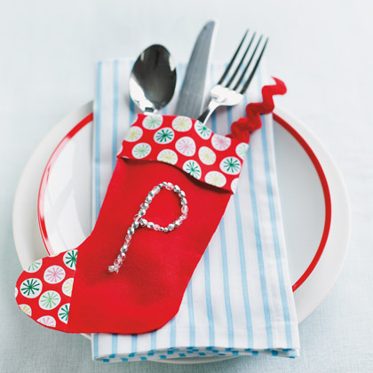 Silverware Stocking To Spice Up Festive Dinner (via familyfun)