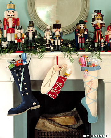 Nutcracker Stockings (via marthastewart)