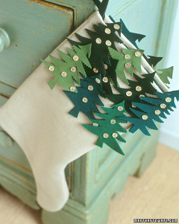 Christmas Tree Stockings (via marthastewart)