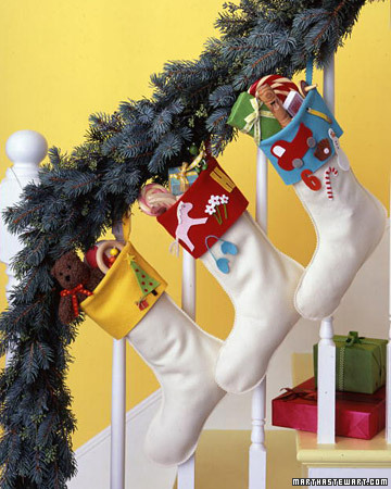 Keepsake Stocking (via marthastewart)