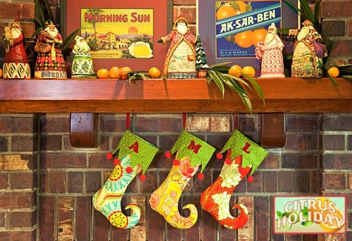 Elf Stocking (via sew4home)