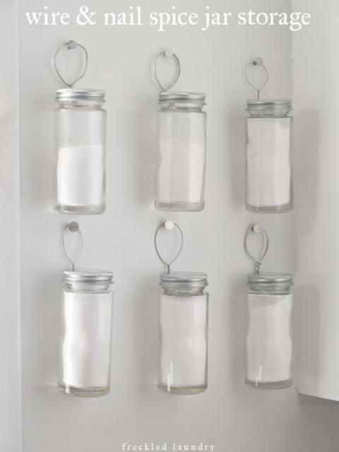 Simple DIY Hanging Spice Holders
