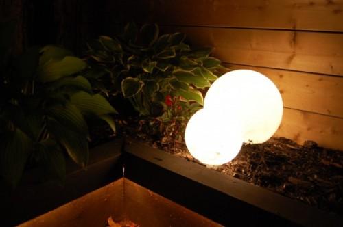 outdoor glowing orbs