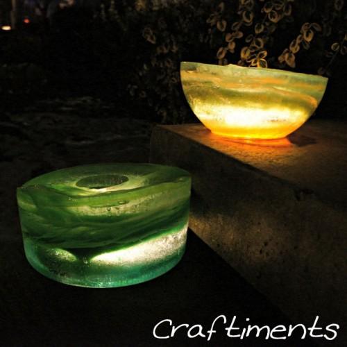 colorful ice lanterns