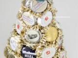 Handmade Tabletop Christmas Tree Of Beer Lids