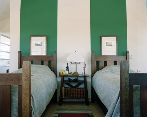 Headboard Wall With Stripes