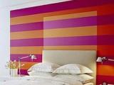 Headboard Wall With Stripes