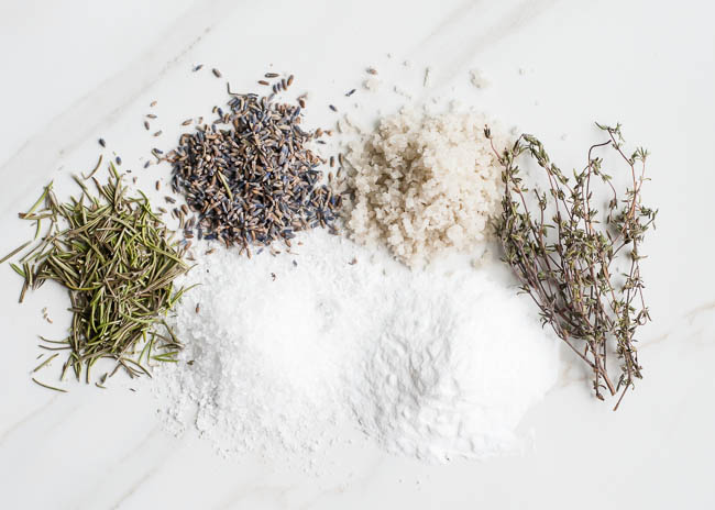 sea salt and herbs for achy muscles