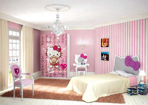 Hello Kitty Themed Kids Bedrooms
