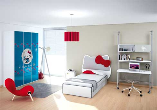 City Hello Kitty Kids Bedroom
